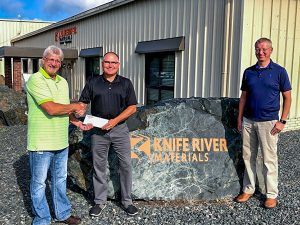 Donation and partnership with Knife River Materials and Machatronics Academy at Bemidji High School