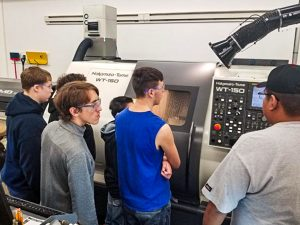 Students Machatronics Academy at Bemidji High School