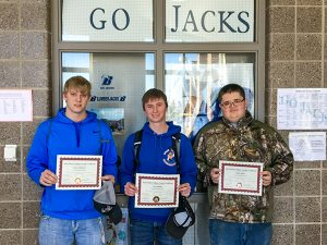 3 Students completion of Machatronics Academy