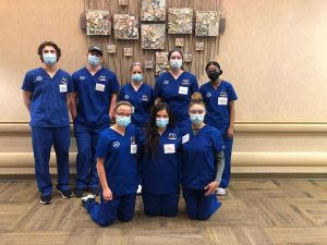Students participating in Health Care career academy
